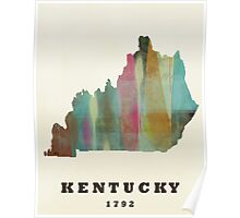 kentucky state map Poster