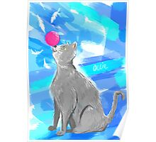 Cat Painting pt4 Poster