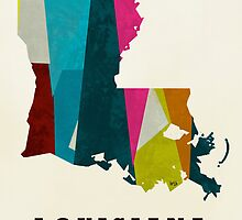 Louisiana state map  by bri-b