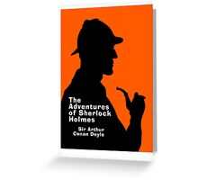 The Adventures of Sherlock Holmes Book Cover Greeting Card