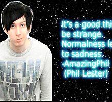 "AmazingPhil ""Strangeness"" poster. by LittlePhilosaur"