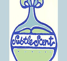 Retro Bath Print - Perfume Single Blue by Create4Home