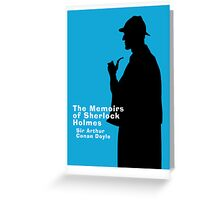 The Memoirs of Sherlock Holmes Book Cover Greeting Card