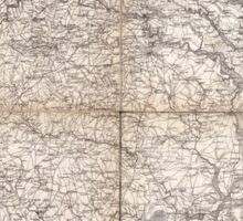 Civil War Maps 2136 Map of Virginia and North Carolina from the coast to the Blue Ridge Sticker