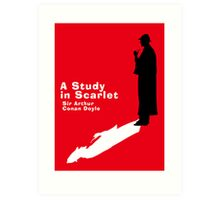 A Study in Scarlet Book Cover Art Print