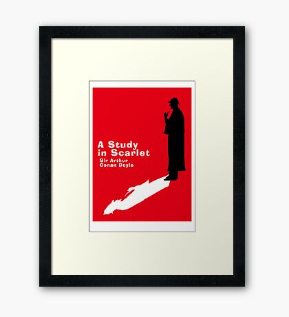 A Study in Scarlet Book Cover Framed Print