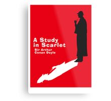 A Study in Scarlet Book Cover Metal Print