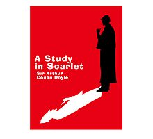 A Study in Scarlet Book Cover Photographic Print