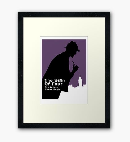 The Sign of Four Book Cover Framed Print