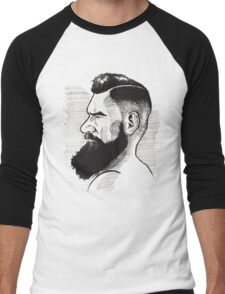 Kenny Brain - Bearded War Lord Men's Baseball ¾ T-Shirt