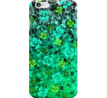 LUCK OF THE IRISH Pretty Bold Kelly Green Emerald Jase Floral Flowers Lucky Clover Pattern Abstract Fine Art Painting iPhone Case/Skin