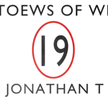 Toews Of Wrath Book Cover Sticker