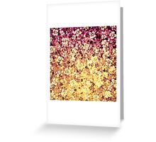 FLOWER POWER Pretty Feminine Abstract Ombre Acrylic Painting Floral Flowers Plum Purple Cream Yellow Pattern Greeting Card