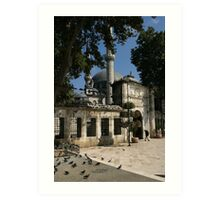 Mosque and Tomb of Eyyub el Ensari in Istanbul Art Print