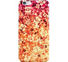 FLOWER POWER IN ORANGE Bold Blood Orange Tangerine Crimson Red Magenta Pink Floral Abstract Painting Ombre Colorful Flower Pattern iPhone Case/Skin