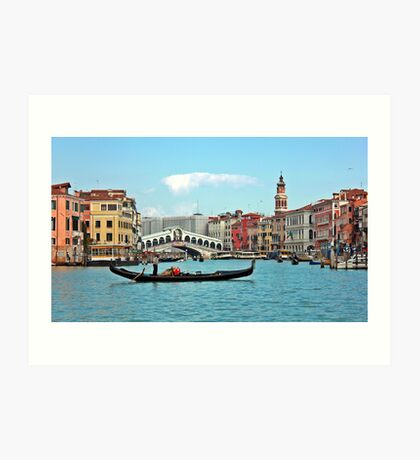 Rialto Bridge, Venice, Italy Art Print