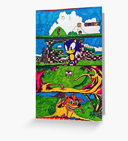 The Classic Game Collection! Greeting Card