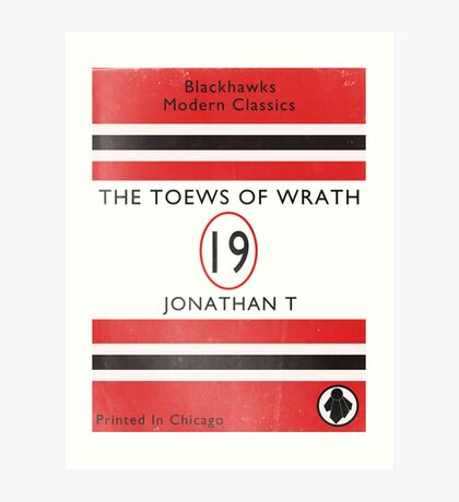 Toews Of Wrath Book Cover Art Print