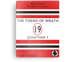 Toews Of Wrath Book Cover Canvas Print