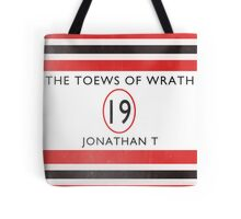 Toews Of Wrath Book Cover Tote Bag