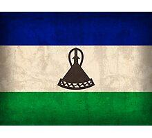 Lesotho Flag Photographic Print
