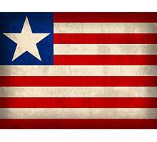 Liberia Flag Photographic Print