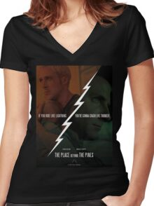 The Place Beyond The Pines Women's Fitted V-Neck T-Shirt