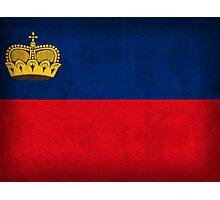 Liechtenstein Flag Photographic Print