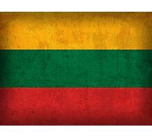 Lithuania Flag Photographic Print