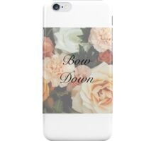 "Floral girly ""Bow Down"" iPhone case iPhone Case/Skin"
