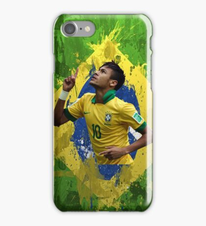 Neymar Brazil football soccer Full canvas  iPhone Case/Skin