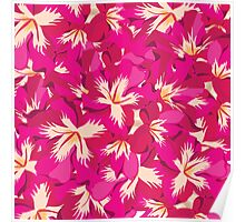 Beautiful flowers, nature pattern Poster