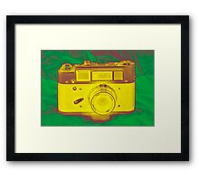 Camera Green Framed Print