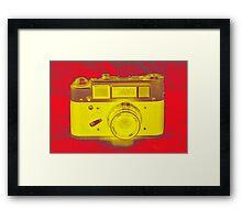 Camera Red Framed Print
