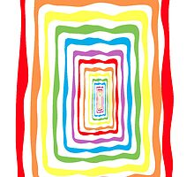 Rainbow wormhole, white background. Phone case by LivingLife