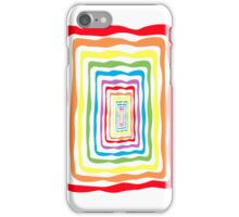 Rainbow wormhole, white background. Phone case iPhone Case/Skin