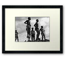 Mursi children Framed Print