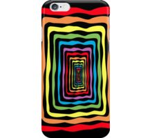 Rainbow wormhole, black background. Phone/ipad case iPhone Case/Skin