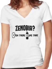 Zenobia Scuba Diving Women's Fitted V-Neck T-Shirt