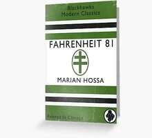Fahrenheit 81 Book Cover Greeting Card