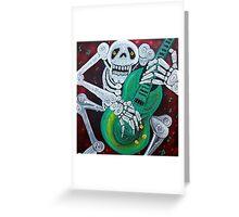 Skeleton Guitarist Greeting Card