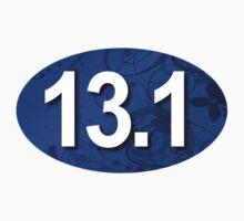 Fancy 13.1 Sticker Blue by robotface