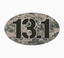 13.1 Oval Sticker - Military Camo by robotface