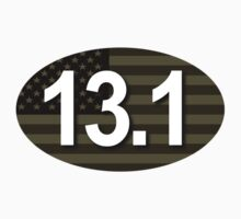 13.1 Oval Sticker - Military Subdued Flag by robotface