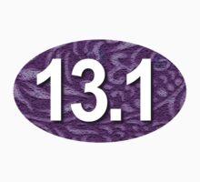 13.1 Oval Sticker Purple by robotface