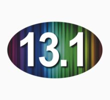 13.1 Oval Sticker - Rainbow by robotface