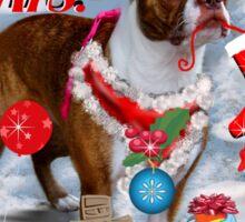 The Santa Dog Sticker