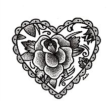 Dotwork Rose by artbycharlee