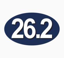 26.2 Oval Sticker - BLUE by robotface