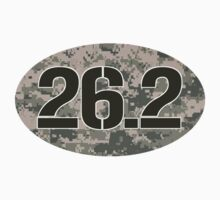 26.2 Oval Sticker - Military Camo by robotface
